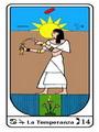 Tarocco, L'Arcano N 14, Tarocco Egiziano