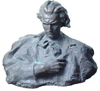 Mihai Eminescu - bust de Lazăr Dubinovschi