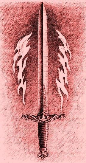 Mač - simbol Vatre, Pravosuđa i Volje