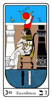 Tarot, Arcanul Nr.2 al Tarotului, Tarotul Egiptean, Sacerdotesa