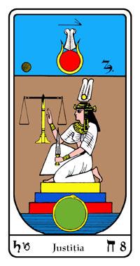 Tarot, Arcanul Nr.8 al Tarotului, Tarotul Egiptean, Justiţia, Balanţa, Spada