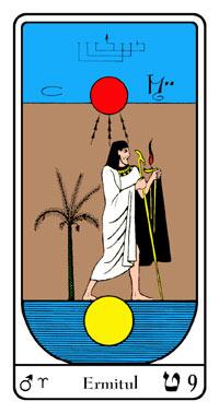 Lama de Tarot 9 - Ermitul- Tarot Egiptean