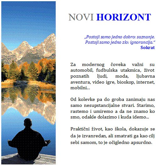 Novi horizont