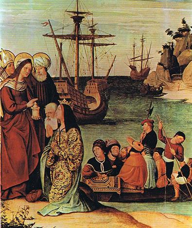 Svetica u  luci u Marselju deo Retabla Sveta Magdalena Pere Mates (1526)
