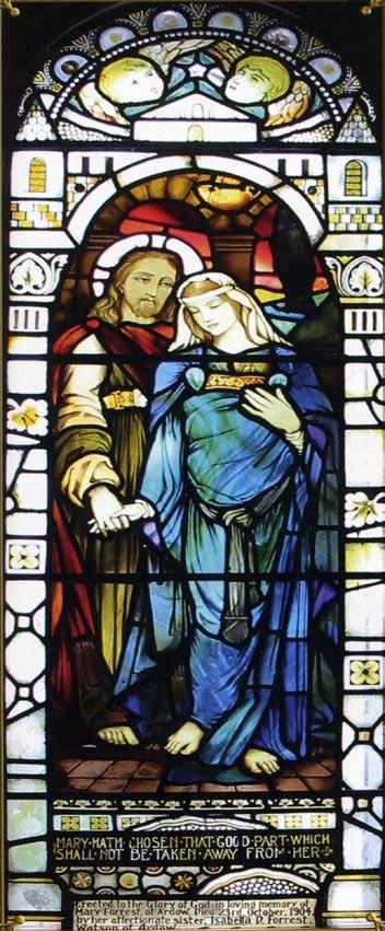 Vitraža u Crkvi iz Kilmore, Stephen Adam (1910)