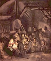Božić, Klanjanje pastira-Rembrant 1646