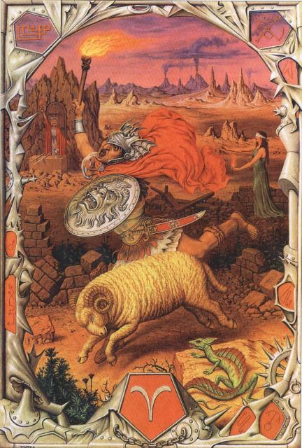 Zodijak - Slika Znaka Ovan, Ermetički Zodijak Jofra Boshart (Johfra Bosschart)